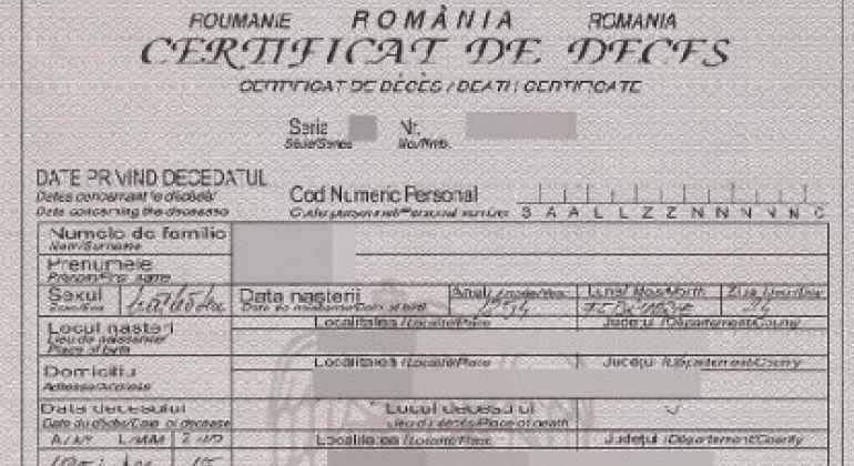 Eliberarea certificatului de deces/nastere/casatorie in duplicat